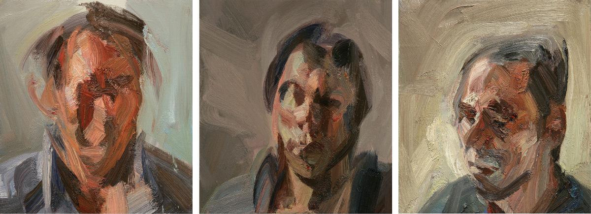 Selfportrait as Proteus Triptych