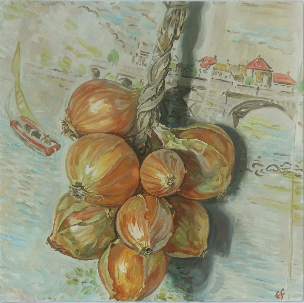 Onions on lake Como