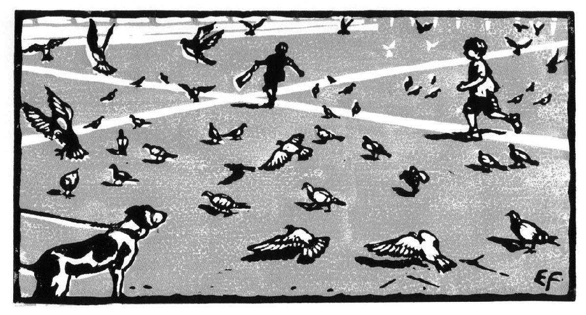 Chasing pigeons, Pisa