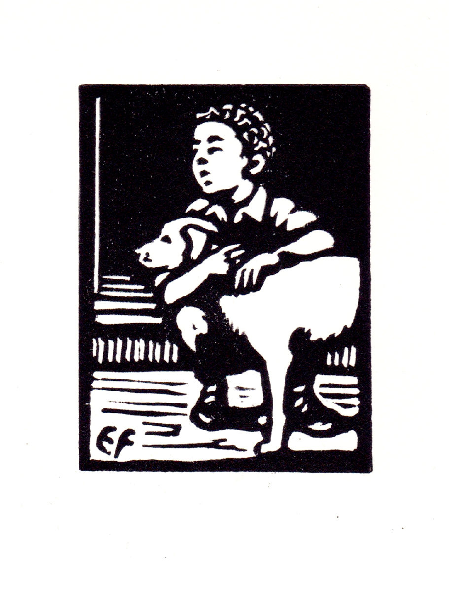 June, Boy and dog
