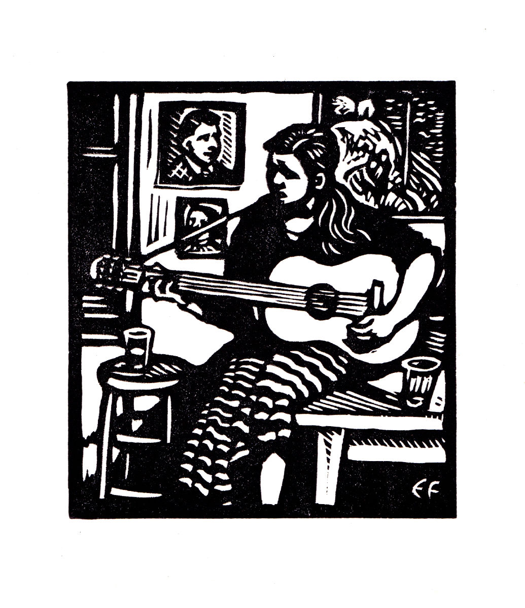 November, Girl with guitar