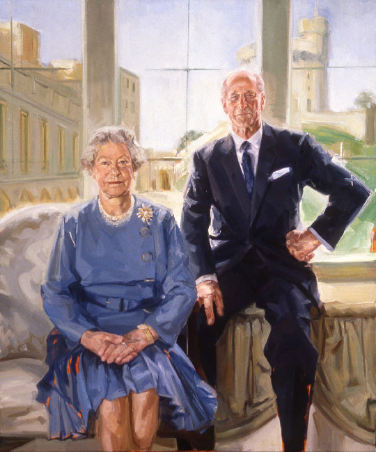HM The Queen and  HRH Prince Philip
